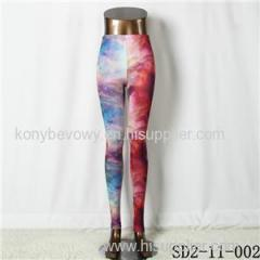 SD2-11-002 Latest Fashion Fashion Knit Starry-sky Print Slim Leggings