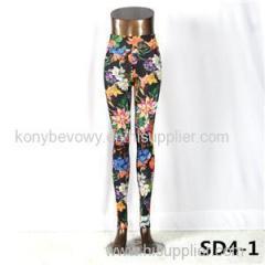 SD4-1 Knit High-waist Flower Yoga Leggings