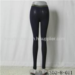 SD2-8-011 Latest Popular Knit Fashion Black Slim Elastic Leggings