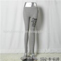 SD2-8-010 Latest Popular Knit Fashion Elastic Alphabet Slim Leggings