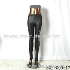 SD2-9-017 High-elastic Slim Fashion Light Yogon Paillette Sexy PU Leggings