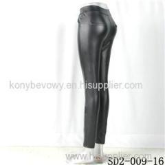 SD2-9-016 High-elastic Slim Fashion Light Yogon Double Pockets Sexy PU Leggings