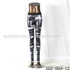 SD2-9-012 High-elastic Slim Fashion Light Yogon Sexy Camouflage PU Leggings