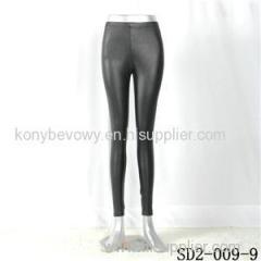 SD2-9-009 High-elastic Slim Fashion Light Yogon PU Sexy Leggings