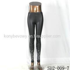 SD2-9-007 High-elastic Slim Fashion Light Yogon Sexy Star PU Leggings