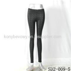 SD2-9-005 High-elastic Slim Fashion Light Yogon PU Flower Sexy Leggings
