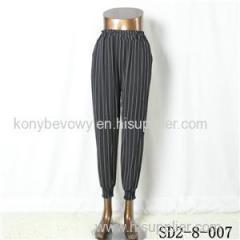 SD2-8-007 Latest Popular Knit Fashion Elastic Strip Loose Pants