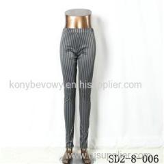 SD2-8-006 Latest Popular Knit Fashion Elastic Strip Slim Pants