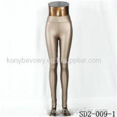 SD2-9-001 High-elastic Slim Fashion Light Yogon PU Sexy Leggings