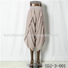 SD2-3-001 Latest Popular Viscose High-waist Loose Pants