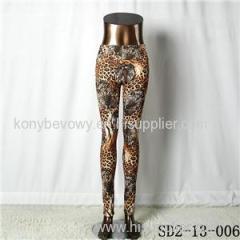SD2-13-006 Fashion Knit Animal Leopard Print Sexy Leggings