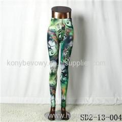 SD2-13-004fashion Knit Lion-head Print Skinny Leggings