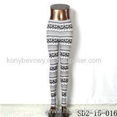 SD2-15-016 New Style Popular Knit Black And White Slim Leggings