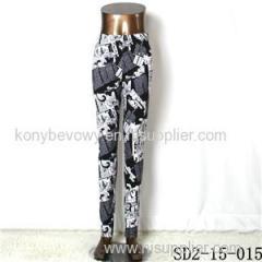 SD2-15-015 New Style Popular Knit Black And White Slim Leggings