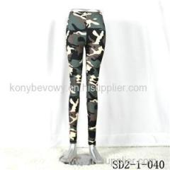 SD2-1-040 Fashion Knit Camouflage Elastic Slim Leggings