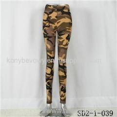 SD2-1-039 Fashion Knit Camouflage Elastic Slim Leggings