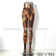 SD2-1-034 Fashion Knit Sexy Slim Elastic Leopard Print Leggings