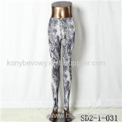 SD2-1-03 1fashion Knit Sexy Slim Elastic Leopard Print Leggings