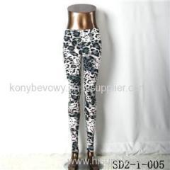 SD2-1-005 Fashion Knit Sexy Slim Elastic Leopard Print Leggings