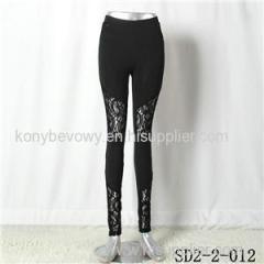 SD2-2-012 Fashion Trend Splice Lace Sexy Leggings
