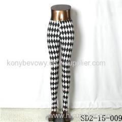 SD2-15-009 New Style Popular Knit Black And White Skinny Leggings