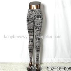 SD2-15-008new Style Popular Knit Black&white Slim Leggings
