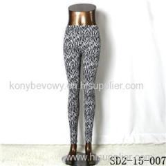 SD2-15-007 New Style Popular Knit Black And White Slim Leggings