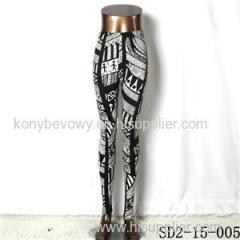 SD2-15-005 New Style Popular Knit Black And White Slim Leggings