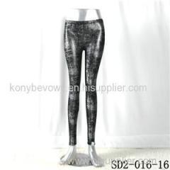 SD2-16-016 Black Low-waist Sliver Slim Leggings
