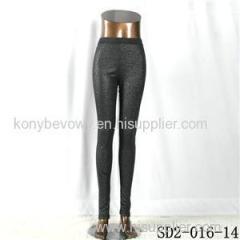 SD2-16-014 Black Low-waist Sliver Slim Leggings