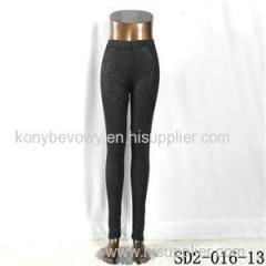 SD2-16-013 Black Low-waist Sliver Slim Leggings