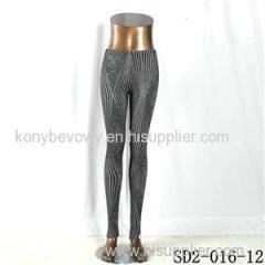 SD2-016-12 Fashion Knit Diamond Sliver Style Leggings
