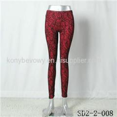 SD2-2-008 Latest Fashion Knitting Lace Slim Sexy Legging
