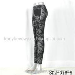 SD2-16-008 Fashion Knit Mosaic Sliver Knit Leggings