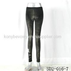 SD2-16-007 Black Sliver Fashion Slim Knit Leggings