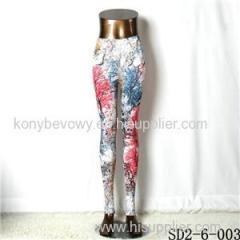 SD2-6-003 Popular Fashion Elastic Knit Branch Leggings