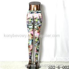 SD2-6-002 Popular Knit Elastic Mosaic Fashion Leggings