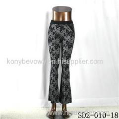 SD2-10-018 Fashion Popular Knit Jacquard High-waist Flower Leggings