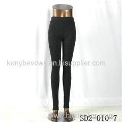 SD2-10-007 Latest Fashion Knit Jacquard High-waist Black Slim Leggings