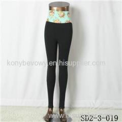 SD2-3-019 Latest Popular Pure Cotton Knit High-waist All-match Leggings