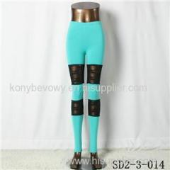 SD2-3-014 Latest Popular Pure Cotton Knit Lace All-match Leggings