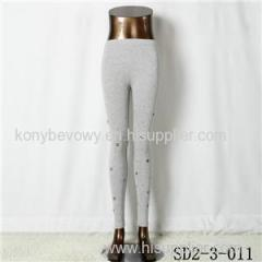 SD2-3-11 Latest Popular Pure Cotton Solid Color All-match Leggings