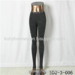 SD2-3-006 New Style Pure Cotton Montage Washing Water Slim Leggings