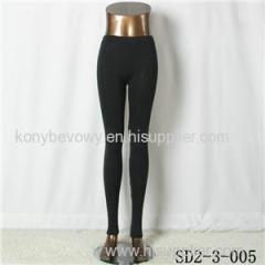 SD2-3-005 Black Pure Cotton Low-waist Slim All-match Leggings