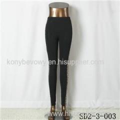 SD2-3-003 Cotton Slim Side-montage Leopard Print Fashion Leggings