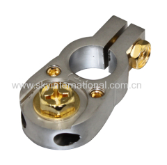 Gold Plated 2x 8 AWG Gauge Battery Terminal Car battery post