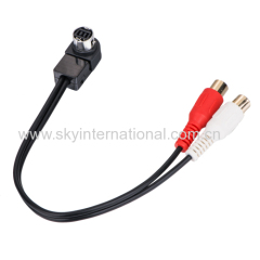 RCA output connection cable for alpine/sony/JVC car radios