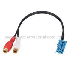 RCA PLUG CABLE ADAPTER FOR BLAUPUNKT HEADUNIT