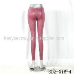 SD2-16-004 Rose-red Bright Sliver Knit Fashion Slim Leggings