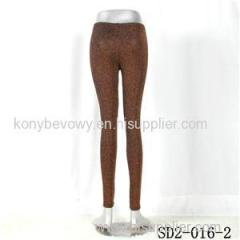 SD2-16-002 Knit Fashion Bright Spun Gold Slim Leggings